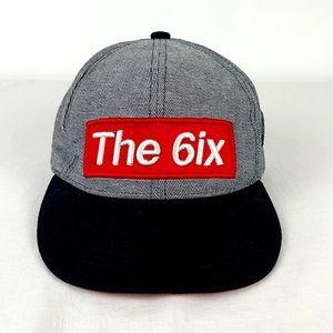 "✨3/$25✨UH ""The 6ix"" Striped Grey|Black SnapBack"